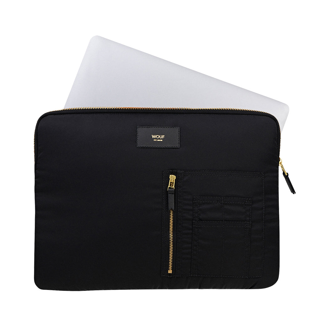 Wouf Laptop Sleeve Bomber Black,Laptop Case, Wouf - Yum Yum Store
