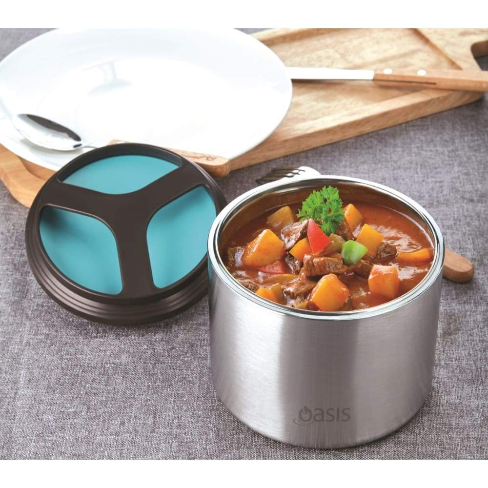 Oasis Insulated Food Container 1 litre Turquoise,Insulated Food Flask, Oasis - Yum Yum Store