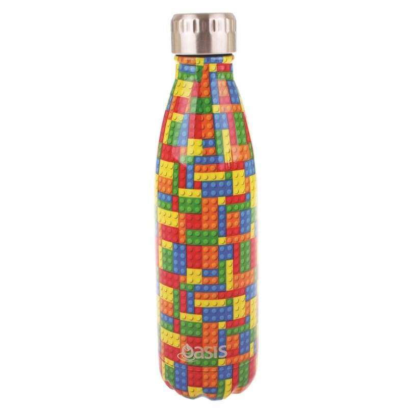 Oasis Stainless Steel Insulated Drink Bottle 500ml - Bricks,Stainless Steel Water Bottle, Oasis - Yum Yum Store
