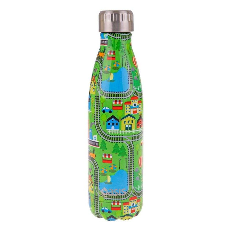 Oasis Stainless Steel Insulated Drink Bottle 500ml City,Stainless Steel Water Bottle, Oasis - Yum Yum Store