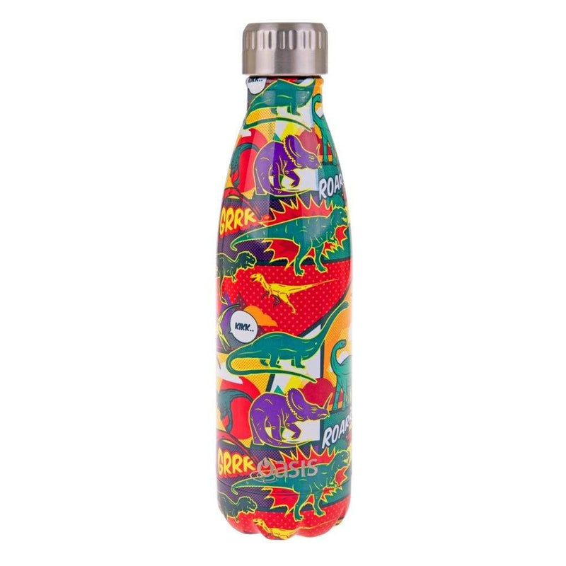 Oasis Stainless Steel Insulated Drink Bottle 500ml Dinosaurs