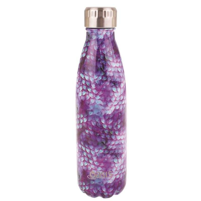 Oasis Stainless Steel Insulated Drink Bottle 500ml - Dragon Scales,Stainless Steel Water Bottle, Oasis - Yum Yum Store