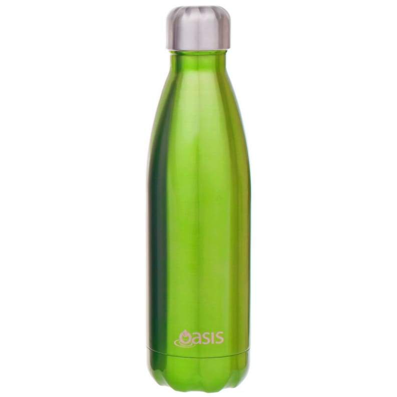 Oasis Stainless Steel Insulated Drink Bottle 500ml Green