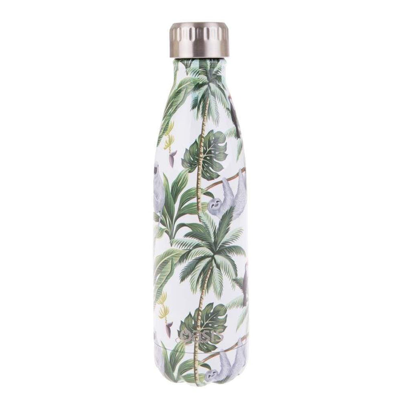 Oasis Stainless Steel Insulated Drink Bottle 500ml Jungle Friends