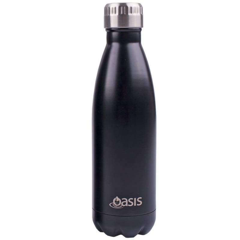 Oasis Stainless Steel Insulated Drink Bottle 500ml - Matt Black,Stainless Steel Water Bottle, Oasis - Yum Yum Store