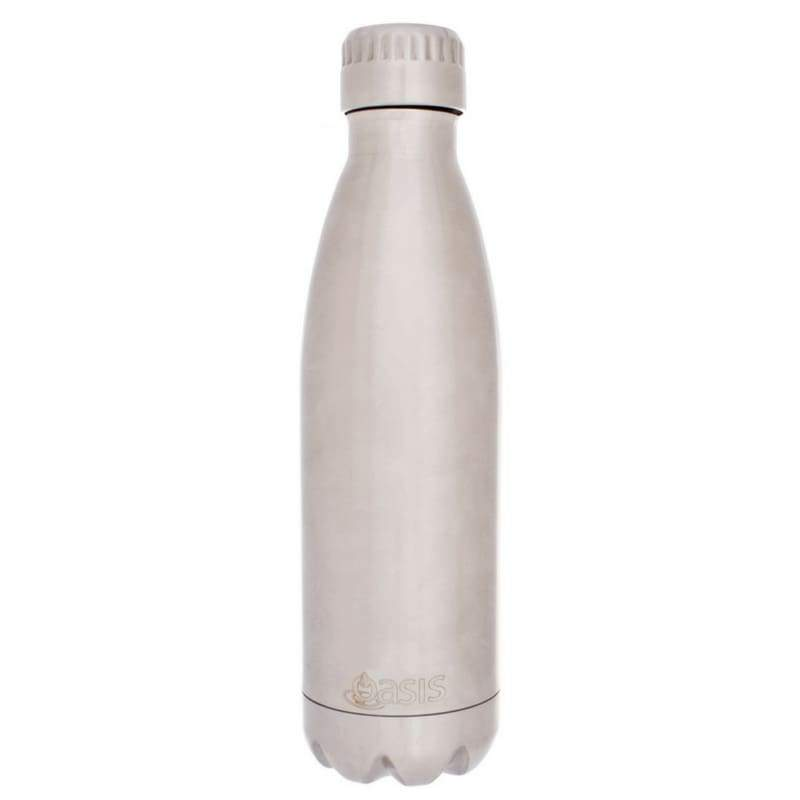 Oasis Stainless Steel Insulated Drink Bottle 500ml - Silver,Stainless Steel Water Bottle, Oasis - Yum Yum Store