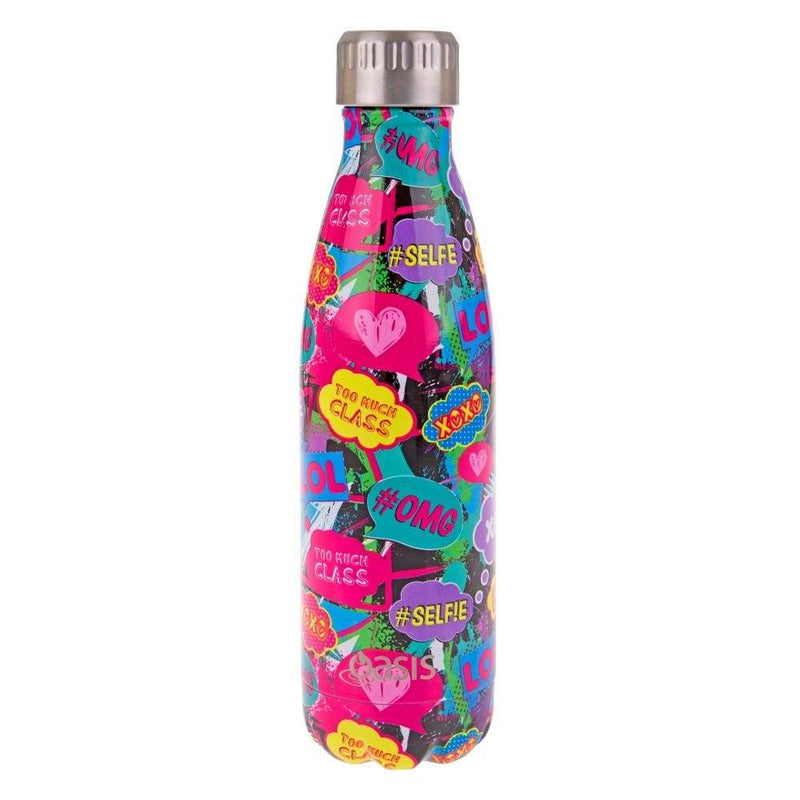 Oasis Stainless Steel Insulated Drink Bottle 500ml Youth Culture,Stainless Steel Water Bottle, Oasis - Yum Yum Store