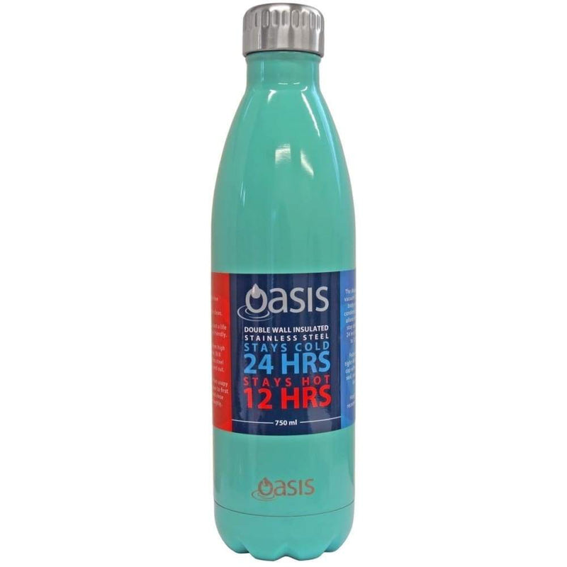 Oasis Stainless Steel Insulated Drink Bottle 750ml - Spearmint,Stainless Steel Water Bottle, Oasis - Yum Yum Store