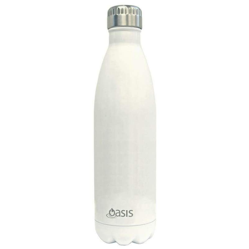 Oasis Stainless Steel Insulated Drink Bottle 750ml - White,Stainless Steel Water Bottle, Oasis - Yum Yum Store
