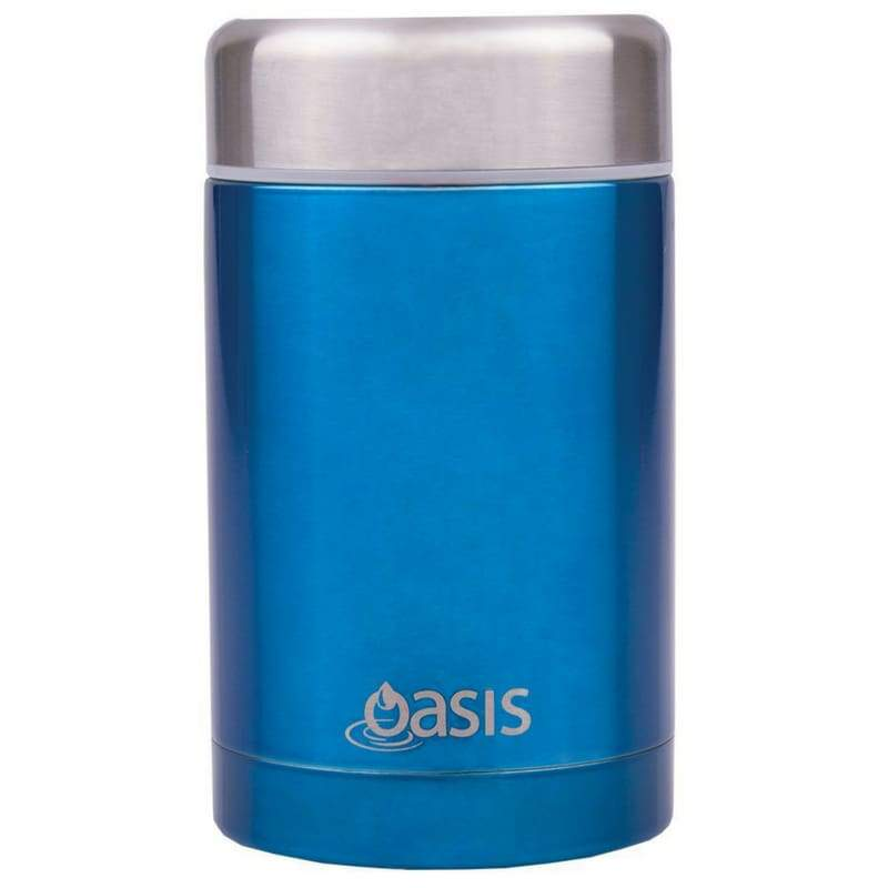 Oasis Stainless Steel Insulated Food Flask 450ml Aqua