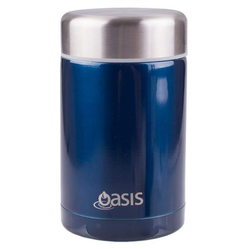 Oasis Stainless Steel Insulated Food Flask 450ml Navy