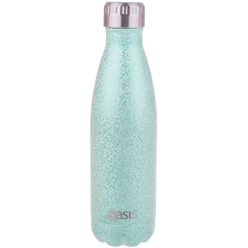 Oasis Stainless Steel Insulated Shimmer Water Bottle 500ml - Turquoise,Water Bottle, Oasis - Yum Yum Store
