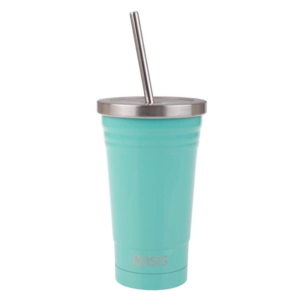 Oasis Stainless Steel Insulated Smoothie Tumbler with Straw 470ml Spearmint,Reusable Tumbler, Oasis - Yum Yum Store
