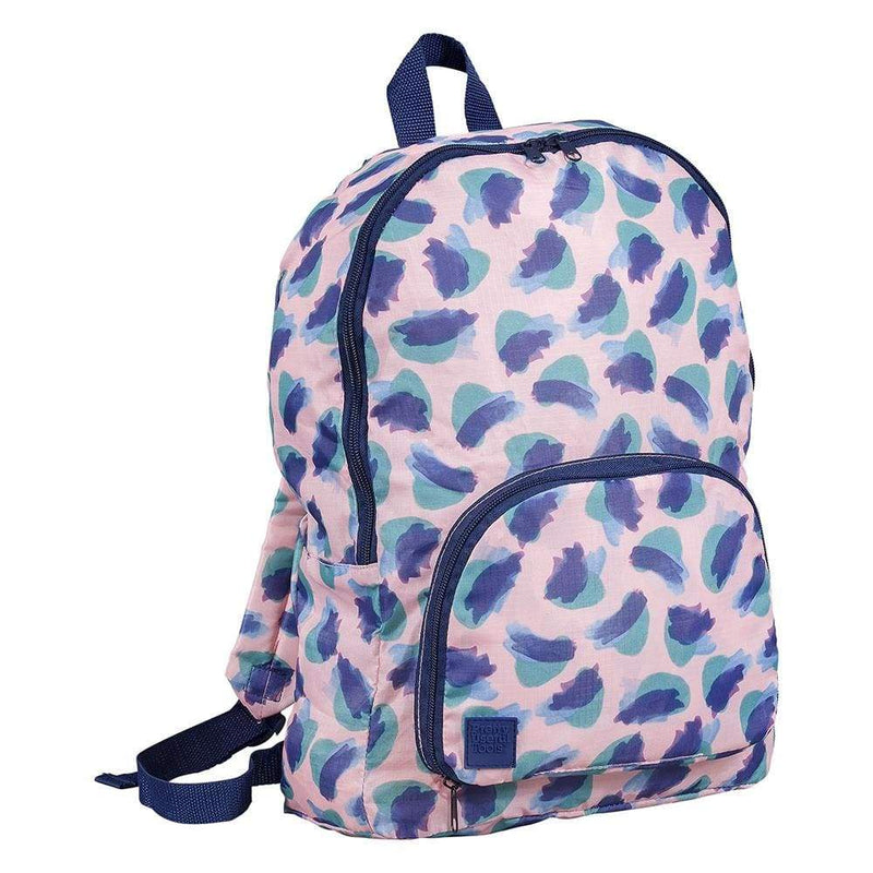 Pretty Useful Foldaway Backpack Camo Coral