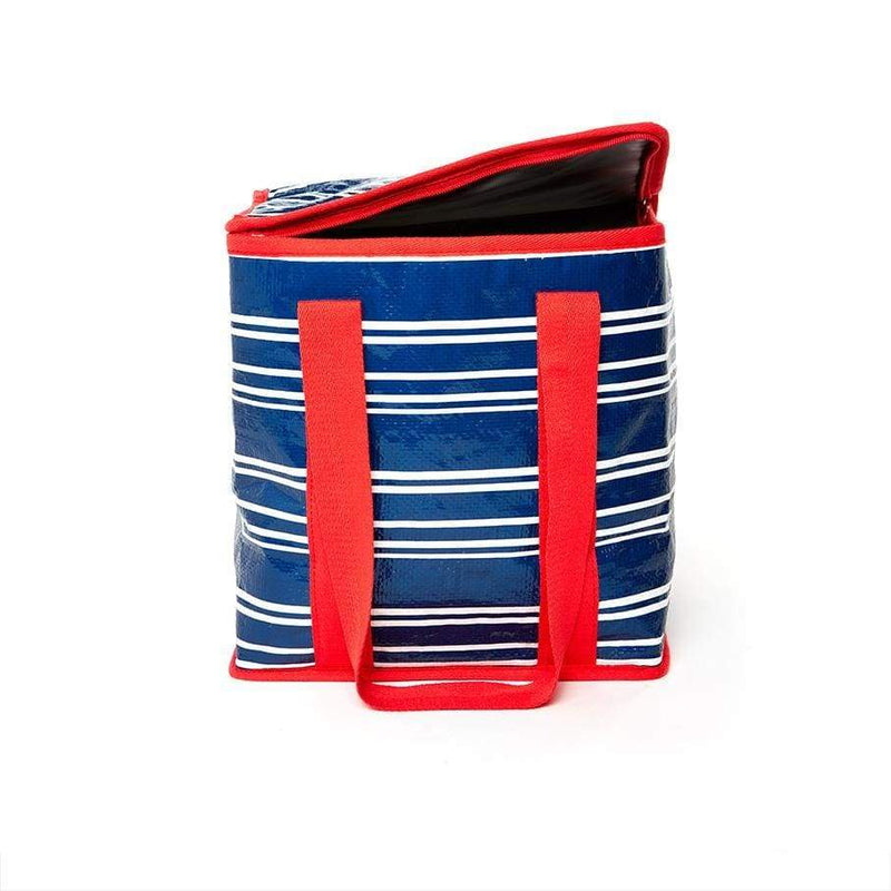 Project Ten Insulated Tote Teatowel Stripe,Reusable Shopping Bag, Project Ten - Yum Yum Store