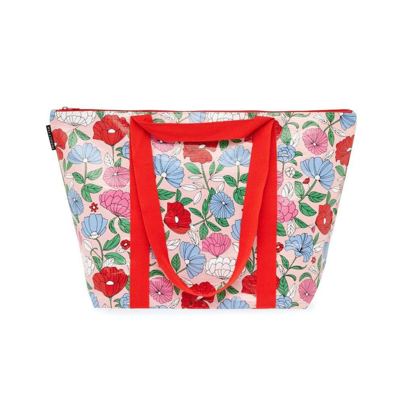 Project Ten Medium Zip Tote Flowers