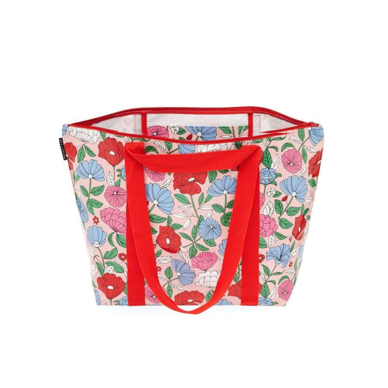 Project Ten Medium Zip Tote Flowers,Reusable Shopping Bag, Project Ten - Yum Yum Store