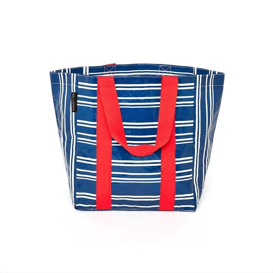 Project Ten Shopper Tote Teatowel Stripe,Reusable Shopping Bag, Project Ten - Yum Yum Store