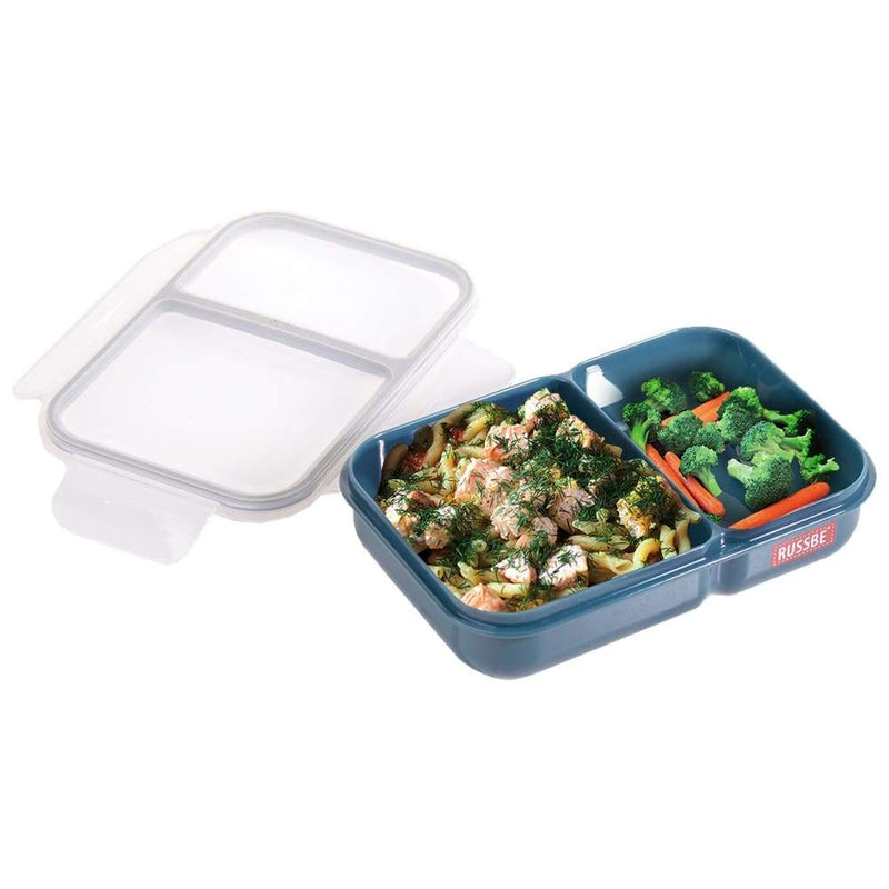 Russbe Lunch Bento 2 Compartment 1.1L Teal