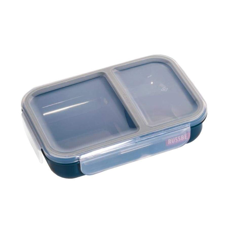 Russbe Lunch Bento 2 Compartment 680ml Navy,lunchbox, Russbe - Yum Yum Store