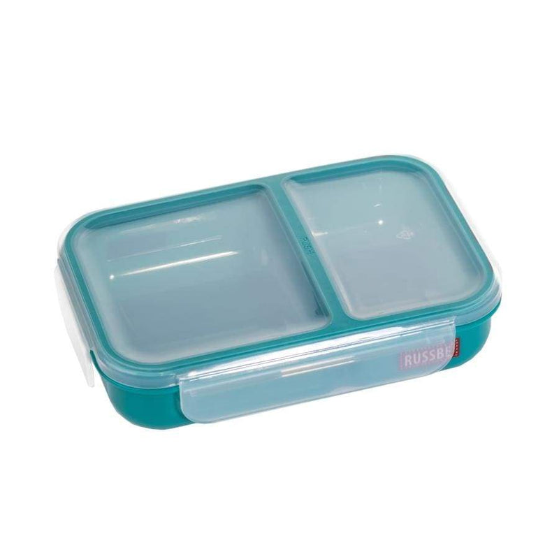 Russbe Lunch Bento 2 Compartment 680ml Teal,lunchbox, Russbe - Yum Yum Store