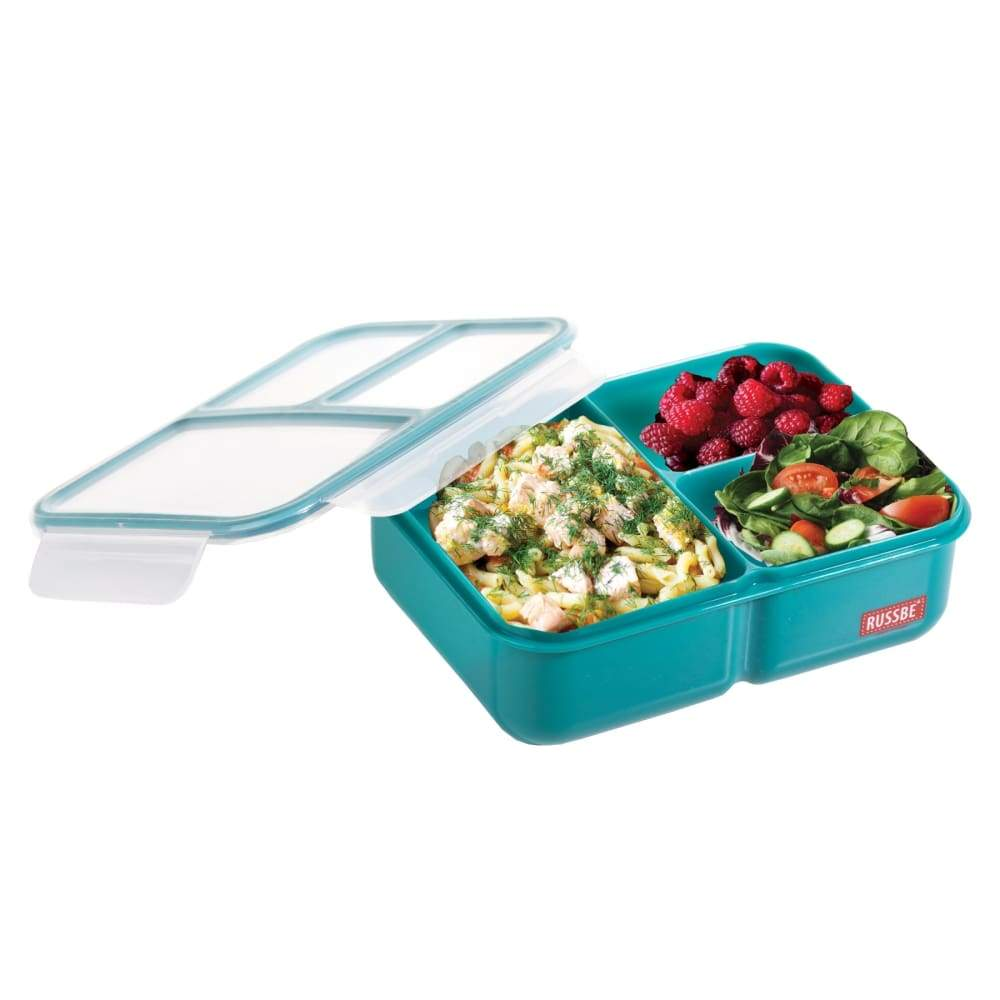 Russbe Lunchbox Bento 3 Compartment 1.6L Teal