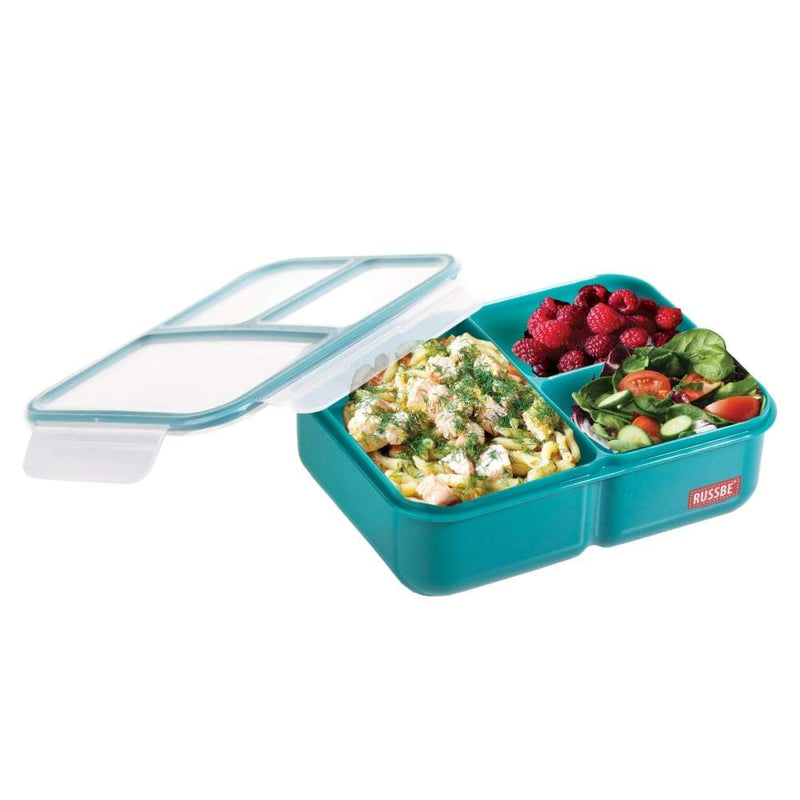 Russbe Lunchbox Bento 3 Compartment 1.6L Teal,lunchbox, Russbe - Yum Yum Store