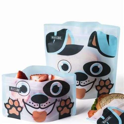Russbe Reusable Sandwich / Snack Bags 4 pack Dog