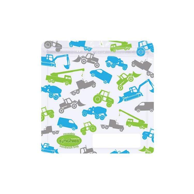 Sinchies Reusable Sandwich Bags 5 Pack Trucks