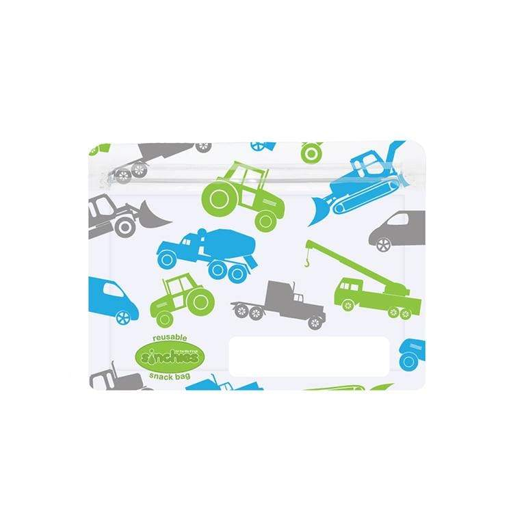 Sinchies Reusable Snack Bags 5 Pack Trucks