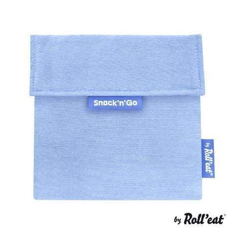 Snack'n'Go Lunch Bag Plain Blue,Reusable Snack Bags, Rolleat - Yum Yum Store