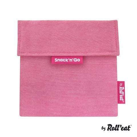 Snack'n'Go Lunch Bag Plain Pink,Reusable Snack Bags, Rolleat - Yum Yum Store