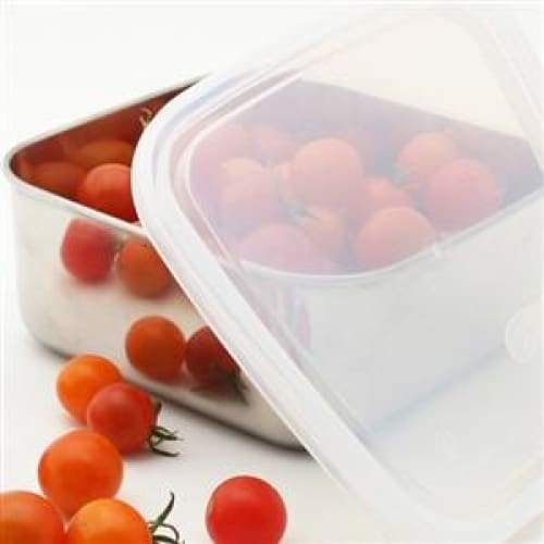 U Konserve Medium Square 30oz Clear Stainless Steel Lunchbox,lunchbox, U Konserve - Yum Yum Store