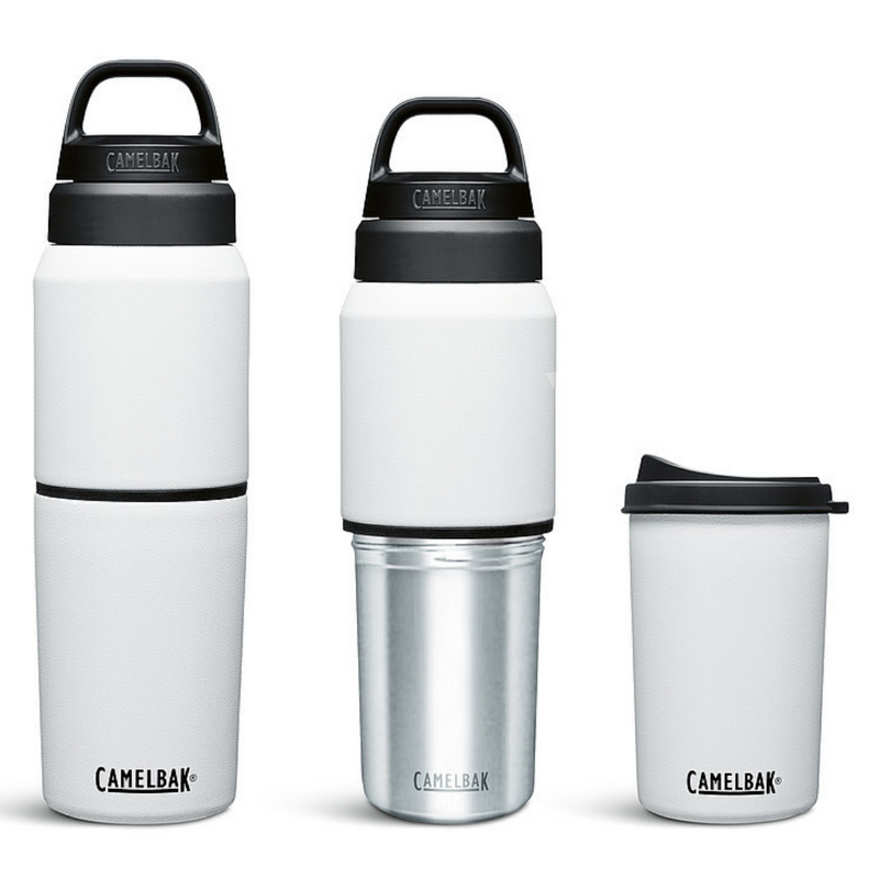 Camelbak Multi Bev Insulated 2 in 1 Water Bottle & Removable Cup White
