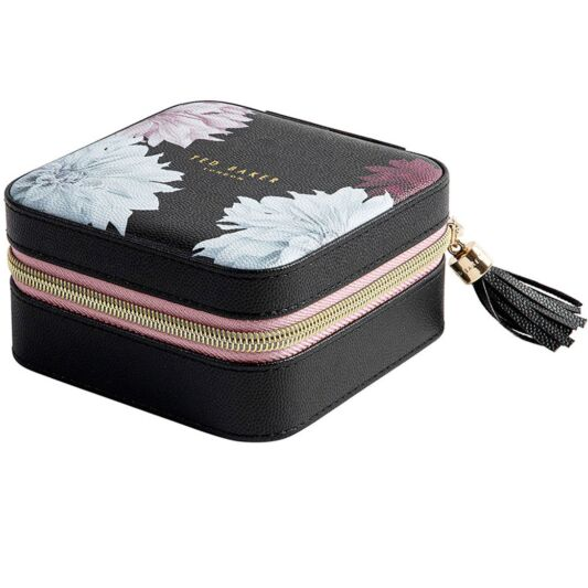 Ted Baker Zipped Jewellery Case Black Clove