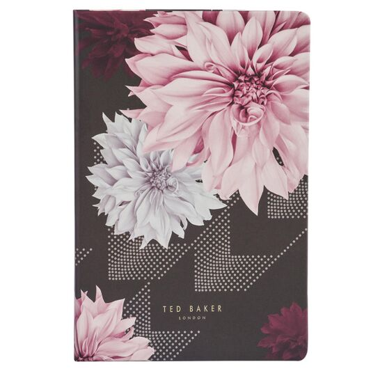 Ted Baker A5 Notebook Black Clove