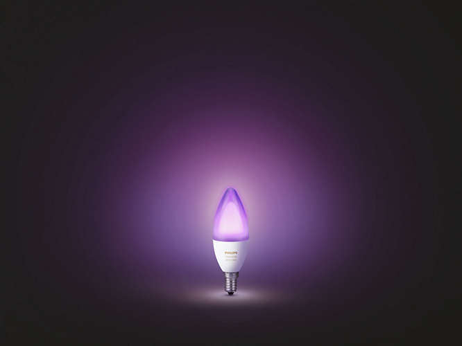 Philips Hue White and Color Ambiance Single Bulb.