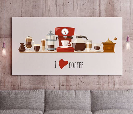 I LOVE COFFEE لوحة - GAPS