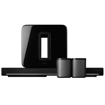 SONOS 5.1 Surround Sound PackageI with PLAY1, SUB & PLAYBAR - GAPS
