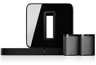 SONOS 5.1 Surround Sound PackageII with PLAY1, SUB & PLAYBASE - GAPS