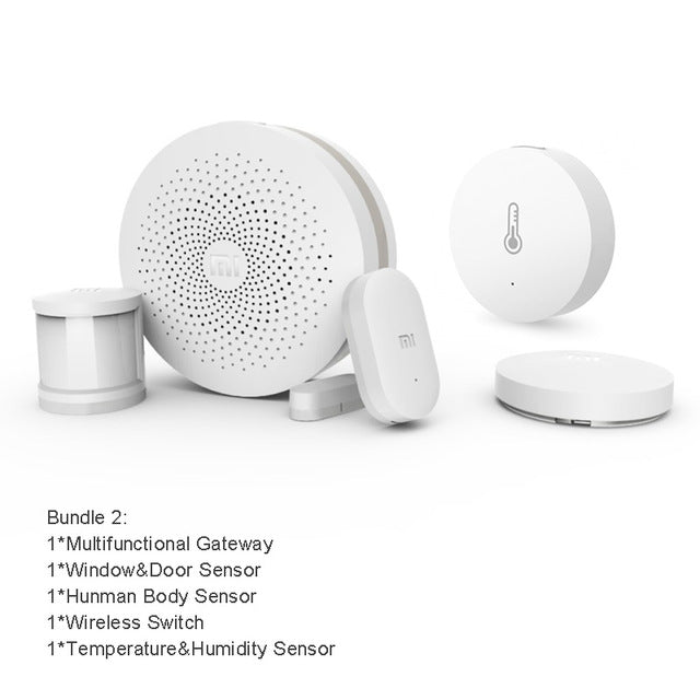 Xiaomi Smart Home Kit Mijia Gateway Door Window Human Body Sensor Temperature Humidity Sensor Wireless Switch Zigbee Socket - GAPS