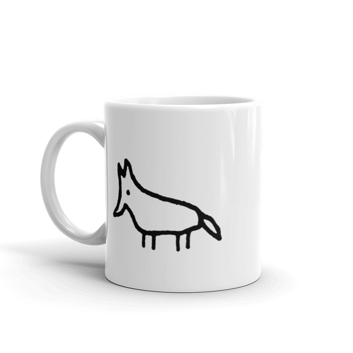 Mexican Wolf mug for lefties