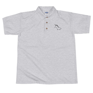 Unicorn facing the heart Embroidered Polo Shirt
