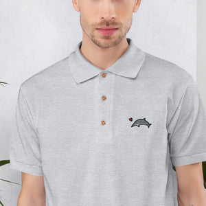 Save The Dolphins! Embroidered Polo Shirt