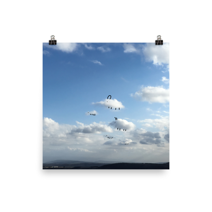 Clouds Facing Left #2 Poster