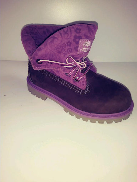TIMBERLAND CHOCOLATE GRAPE ROLL DOWN BOOT TODDLERS/PETIT'S 11y