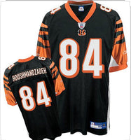 NEW TJ HOUSHMANDZADEH CINCINNATI BENGALS BLACK REEBOK JERSEY MEND MEDIUM