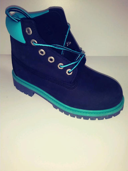 TIMBERLAND BLACK BLUE BOOT YOUTH PS 13.5y