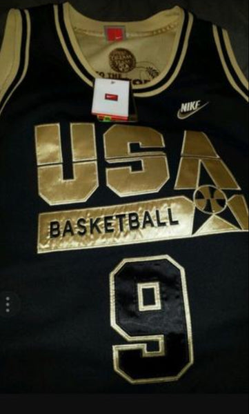NIKE MICHAEL JORDAN 92 OLYMPIC DREAM TEAM SPECIAL EDITION BLACK/GOLD JERSEY XXL