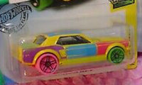 HOT WHEELS 1967 COLORFUL ART MUSTANG